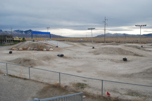 Deseret Peak BMX track (before rain)