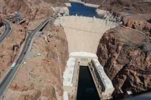 Hoover dam from the bridge